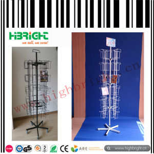 Plastic Powder Coating CD Display Rack pictures & photos