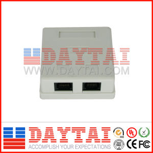 RJ45 Cat 5e Module 2 Ports Socket pictures & photos