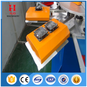 Round Shape Auto Screen Printing Machine with 2 Colors 8 Station pictures & photos