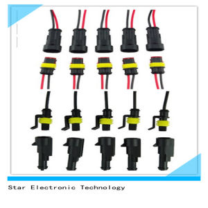 Manufacture of 1 Way 2 Way Waterproof Electrical Automotive Automobile Wire Harness Connector pictures & photos