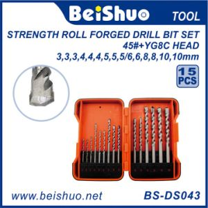 15PCS DIN338 HSS Twist Drill Bits Set with High Quality pictures & photos