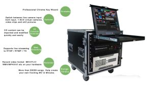 HD 4-Channel Video Mixer Switcher 3D Professional Virtual Studio 3D Virtual Studio Green Screen Studio Kit Virtual Studio System