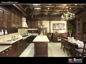 2015welbom Traditional Wallnut Kitchen Cabinet with Island pictures & photos