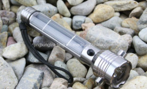 Popular High-Quality Aviation Aluminum Alloy Solar Flashlight (JX-SF006) pictures & photos