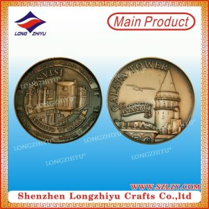 Beautiful Commemorative Metal Coin with Antique Brass Plating pictures & photos