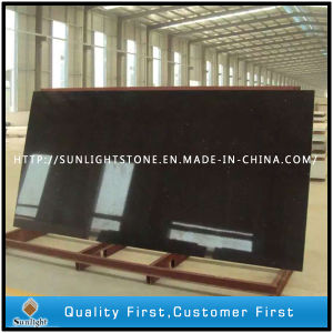 Artificial Black Quartz Faux Stone for Tiles and Countertops pictures & photos