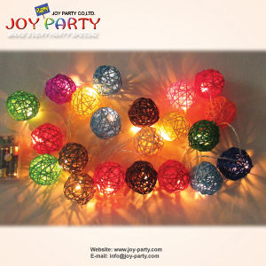 LED String Light 20 Tips Colorful Rattan Ball Decoratioin pictures & photos