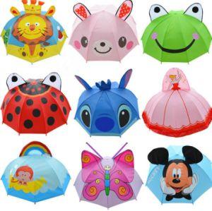 19′′*8k Custom Auto Open Straight Children Umbrella Animal Cartoon Design Umbrella pictures & photos