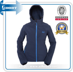 New Stylish Design Lady Formal Softshell Jackets in Blue Color