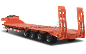 Cimc Brand 17.5m 4 Axles Low Bed Semi Trailer pictures & photos