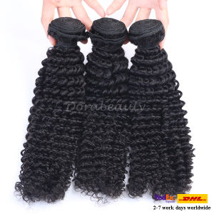 Wholesale Peruvian Virgin Human Kinky Curl Hair Weaving pictures & photos