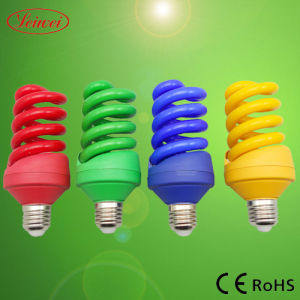 Colorful Full Spiral Energy Saving Lamp, Light (T4 Full Spiral)