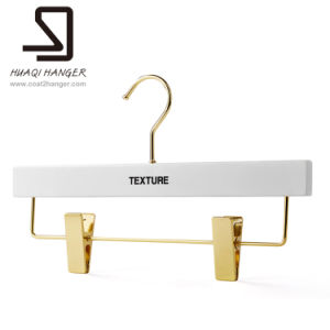 Modern White Wood Trousers Hanger, Bar with Clip Hanger pictures & photos