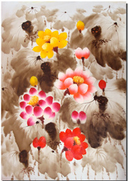 Top Quality Floral Canvas Printing Art for Home Decoration