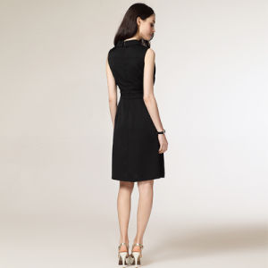 Latest Office Wear Designs Sleeveless Formal Straight Dress Ladies Office Dresses pictures & photos