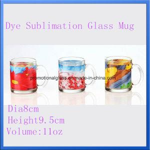 11oz Dye Sublimation Printing Glass Mug, Promotional Glass Mug