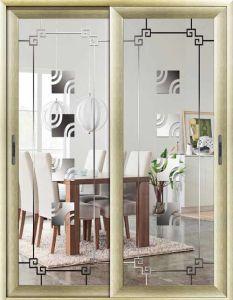 Aluminum Horizontal Sliding Doors Thermal Break Aluminum Doors Interior 2panel Patio pictures & photos