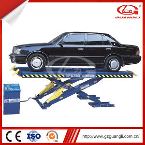 China Manufacturer Car Repair Equipment Double Cylinder High Quality Scissor Car Lift 4000 pictures & photos