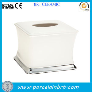 White Small Ceramic Facial Tissue Box pictures & photos