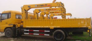 Auman 5 T Telescopic Straight Boom Crane 7t Truck with Crane pictures & photos