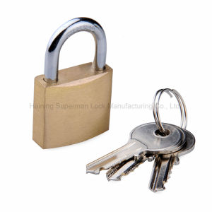 "Sepox Solid Brass Key Different Padlock with 40mm Wide Body, ¼ "" Shackle Diameter pictures & photos"