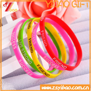 Cutom Logo Fashion Emboss Silicon Wristband for Promotion Gift (XY-SW-001) pictures & photos