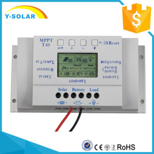 12V/24V 40A MPPT Solar Charger/Discharger Controller/Regulator with Ce T40 pictures & photos