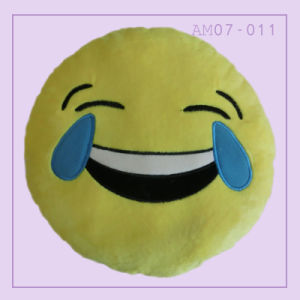 Funny Cute Emoji Pillow Cushion with Yellow Color pictures & photos