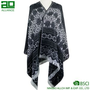 Oblong Lace Pattern Ladies Winter Scarf pictures & photos