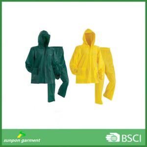 Premium Quality Rain Jacket Waterproof PVC Rain Suit pictures & photos
