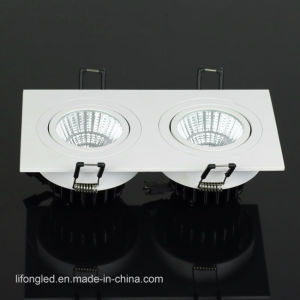Dual Head Recessed Dimmable 2*7W 2*9W Square COB LED Downlights pictures & photos