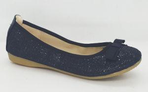 Women′s Glitter Round Toe Flat Ballet Shoes
