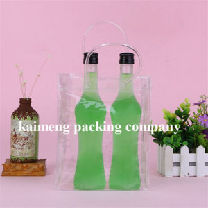 Hot Selling Clear PP Plastic Wine Package Bags for Two Bottles Design (single wine bag) pictures & photos