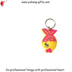 Advertizing Gifts Promotion Rubber PVC Keychain (YH-KC177) pictures & photos