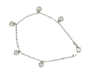 Fashion Silver Jewelry Chirldren′s Bracelet /Anlklet Heart Shpe pictures & photos