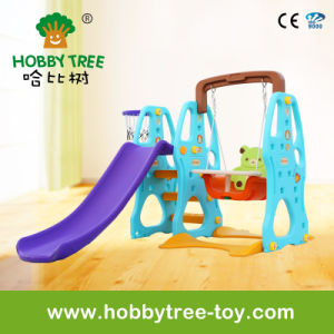 2017 Fashion Cheap and Good Quality Plastic Slide and Swing (HBS17024D) pictures & photos