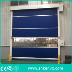 Automatic Industrial PVC Fabric High Speed Rubber Roll up Curtain Doors pictures & photos