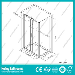 Popular Rectangle Shower Sliding House with Aluminium Alloy Frame (SE905C) pictures & photos