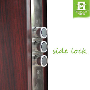 Safety Iron Main Exterior Door Designs with Metal Door Handle pictures & photos