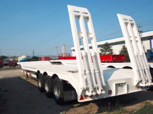3 Axles 13m Length 60tons Gooseneck Low Bed/Lowboy Trailer pictures & photos