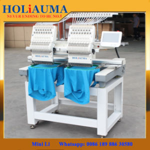 Good Quality Holiauma Commercial Two Heads Computerized Embroidery Machine pictures & photos