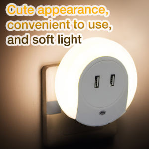Home Travel USB Wall Charger Adapter with LED Light Perception pictures & photos