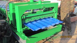 Popular in Russia 1030 Colored Steel Roof Tile Making Machine pictures & photos