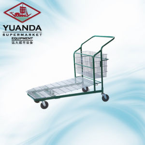 Good Price Flat Trolley Design for Supermarket pictures & photos