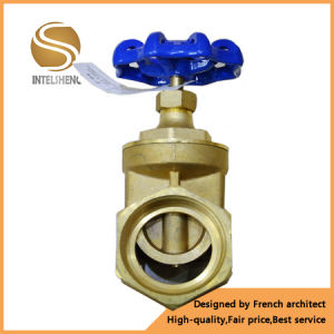 Brass Gate Valve 1 Inch Dn25 with Blue Wheel Handle pictures & photos