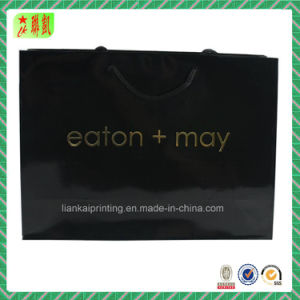 Black Art Paper Handbags with Your Logo for Packing pictures & photos