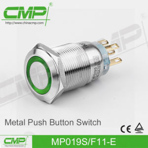 CMP 19mm Metal Push Button with Power Symbol Illumination pictures & photos