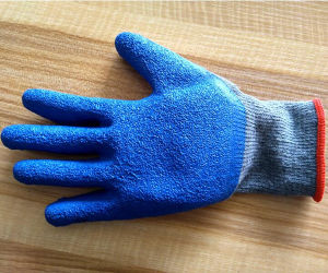 Latex Coated Knitted Yarn Shell/Nitrile Cotton Safety Work Glove pictures & photos