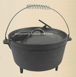 2.5qt Preseasoned Cast Iron Camping Stockpot Price China Factory pictures & photos