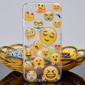 Cartoon Soft TPU Cover Emoji Phone Case for iPhone pictures & photos